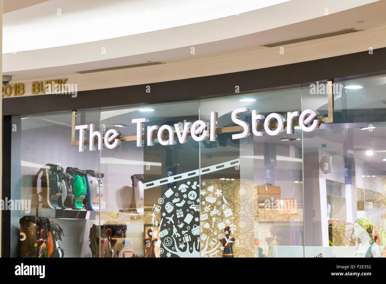Die Reise-Shop Stockbild