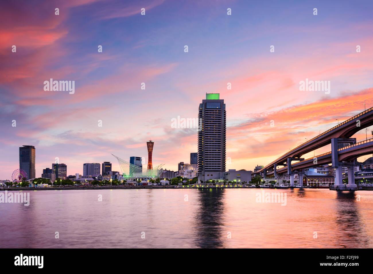 Kobe, Japan Skyline am Hafen. Stockbild