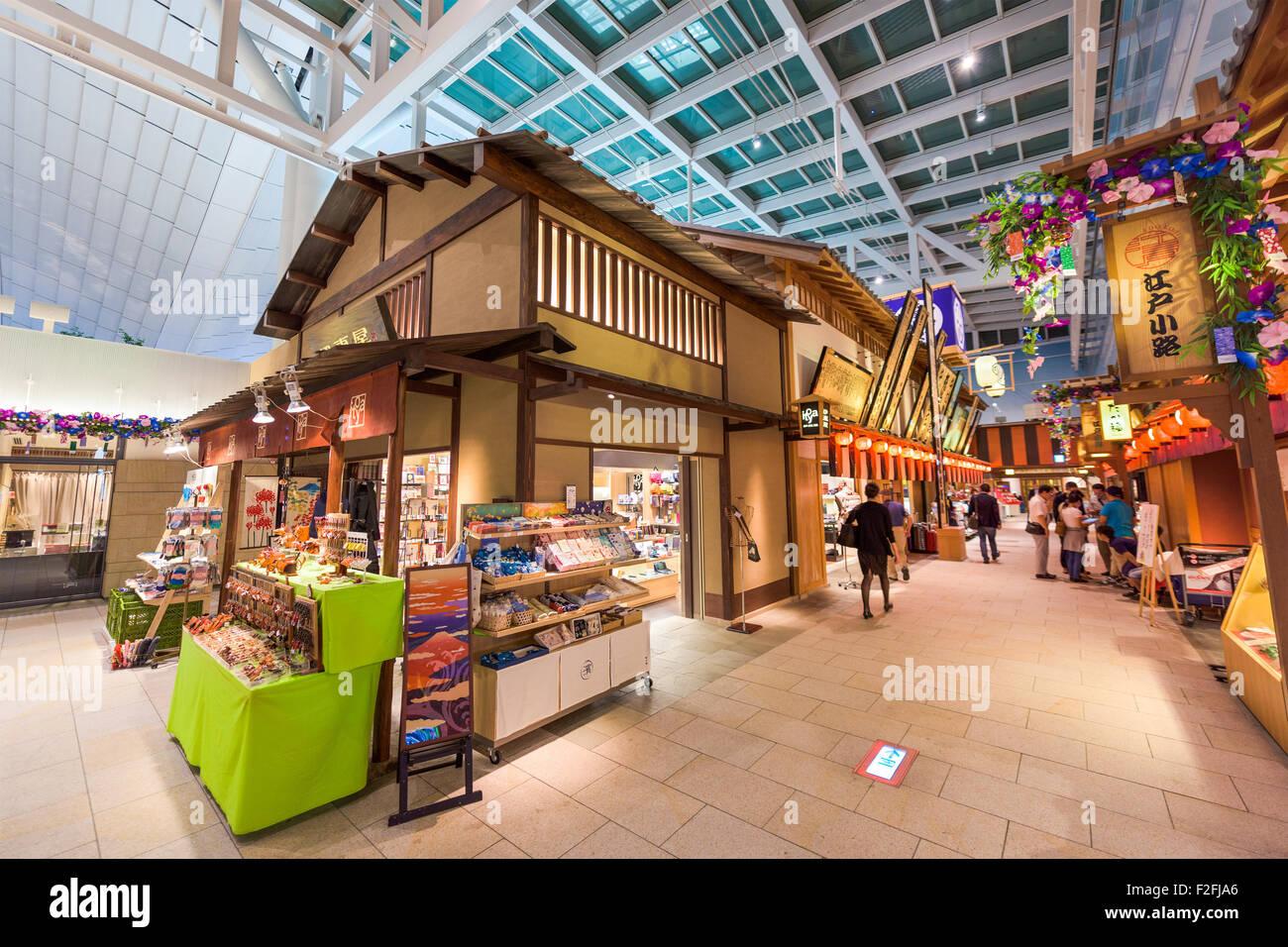 Flughafen Tokio-Haneda auf dem Edo-Markt in Tokio, Japan. Stockbild
