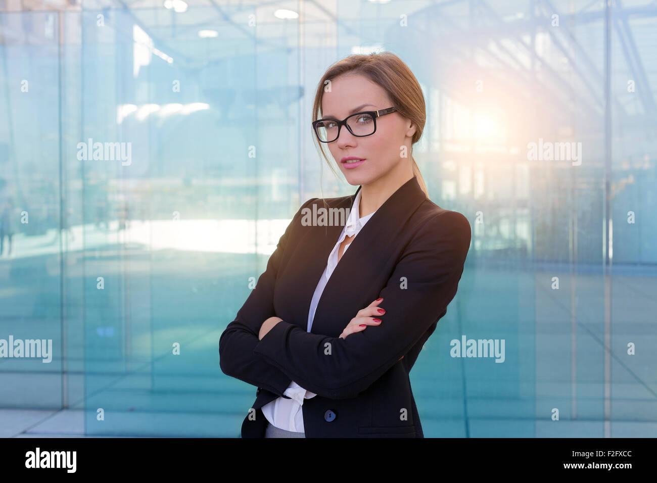 Porträt einer Geschäftsfrau Stockbild
