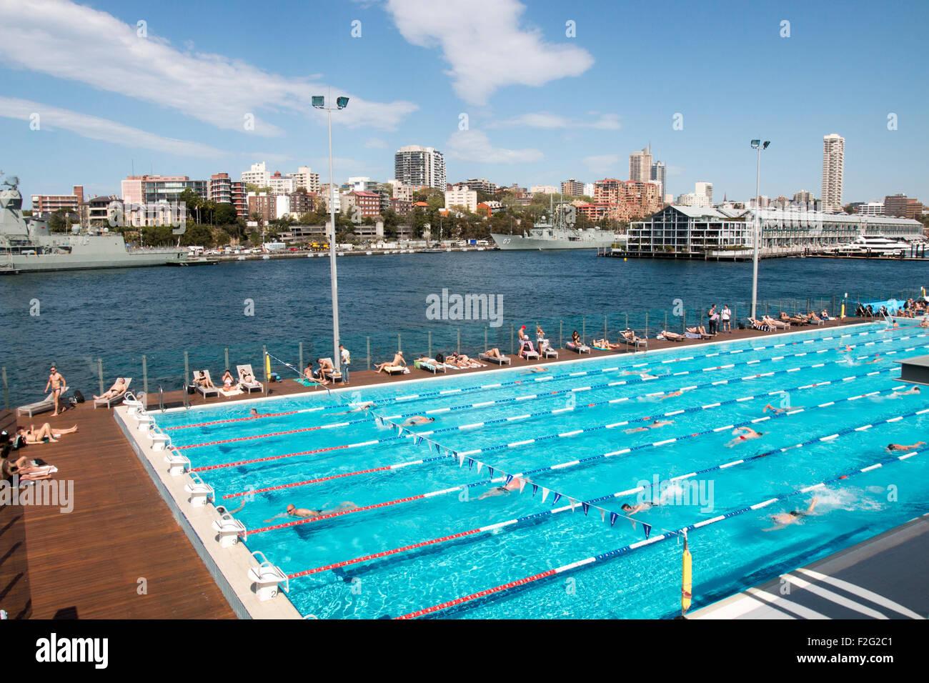 Andrew junge Charlton öffnen Luft 50m Schwimmbad in Woolloomooloo ...