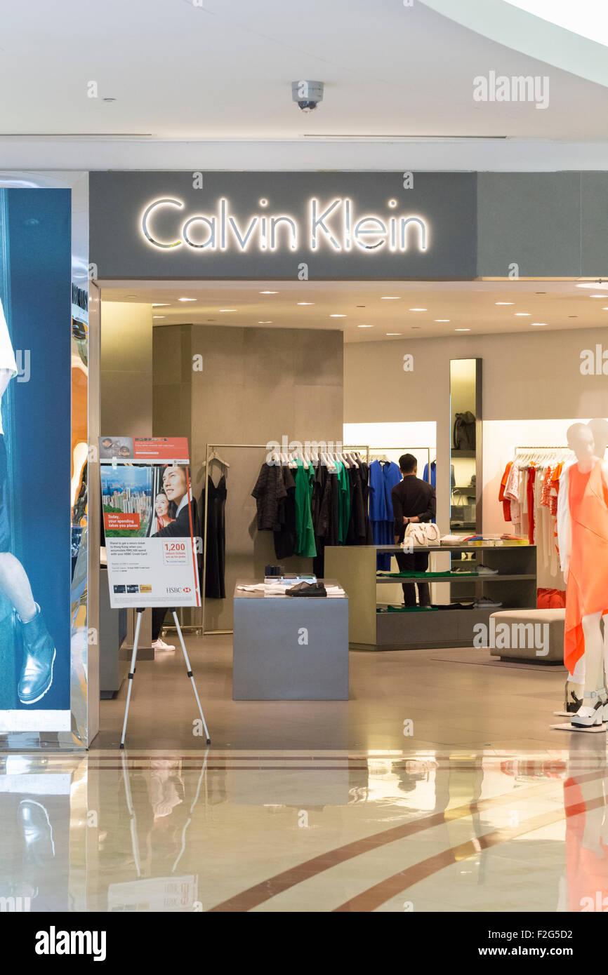 Calvin Klein Shop Stockbild