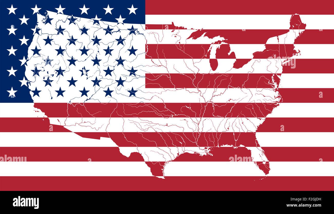 Groß Karte Der Vereinigten Staaten Färbung Seite Ideen - Malvorlagen ...