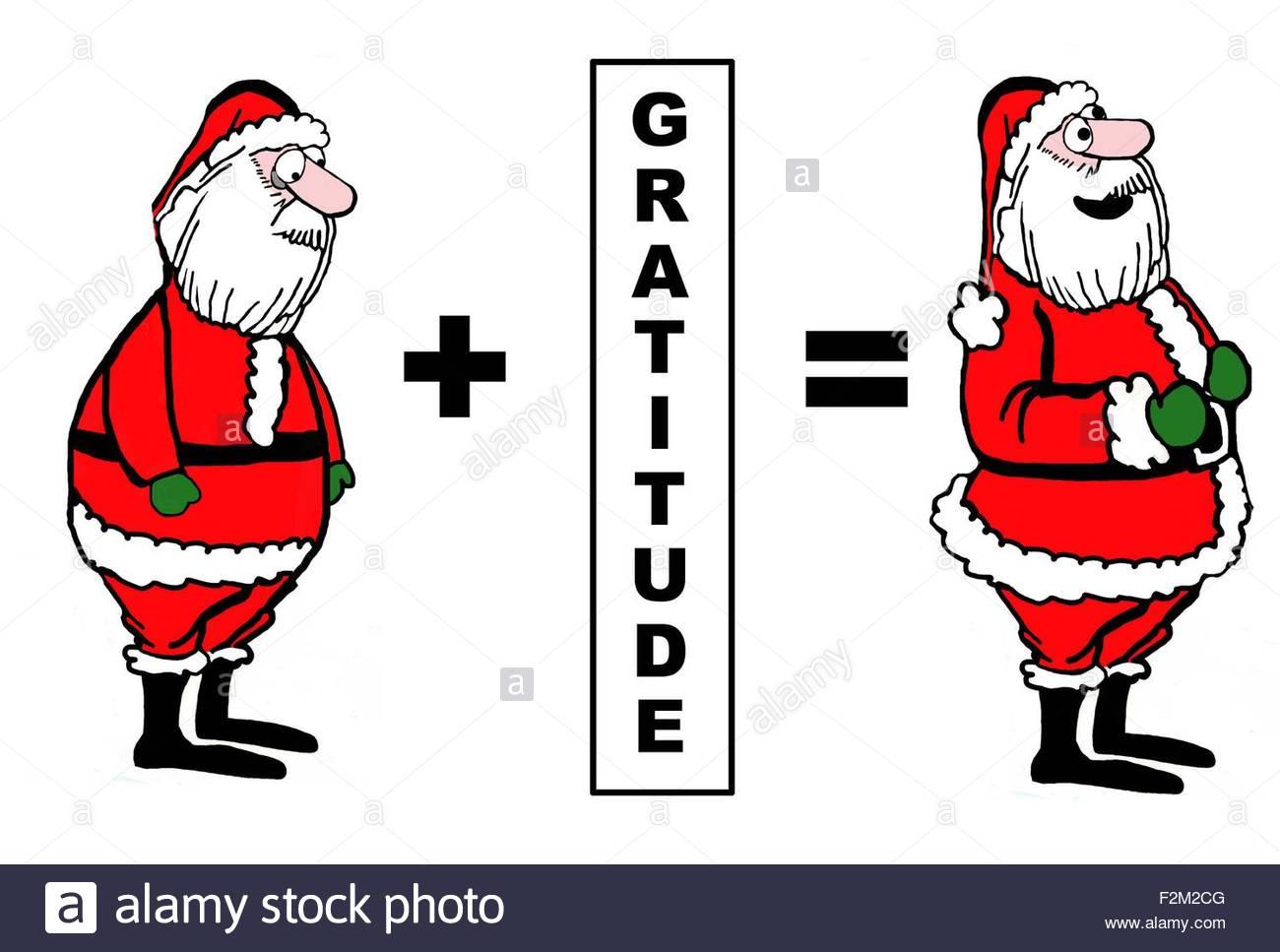 Weihnachten Cartoon zeigt einen niedergeschlagenen Weihnachtsmann ...