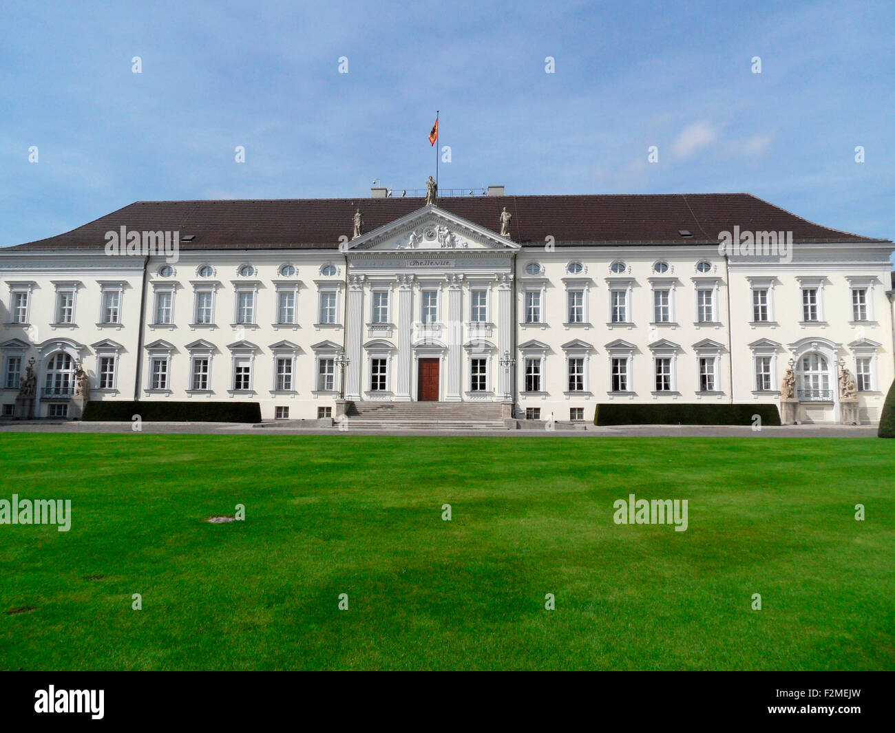 Impressionen - Tag der Besorgnis Tuer, Schloss Bellevue, 9. September 2012, Berlin. Stockbild