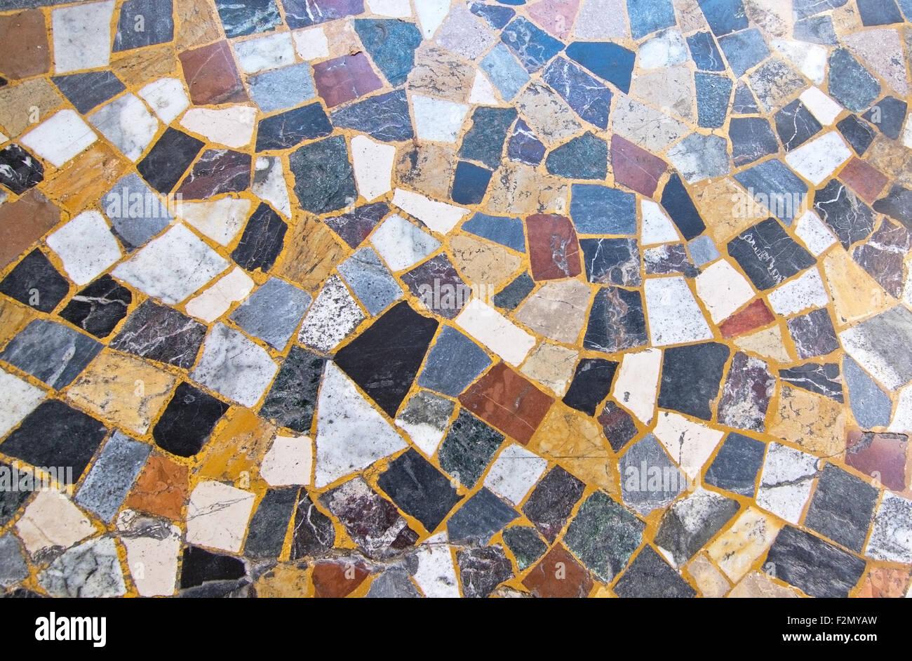 Stein Mosaik Boden Muster Nahaufnahme Von Malta Stockfoto Bild