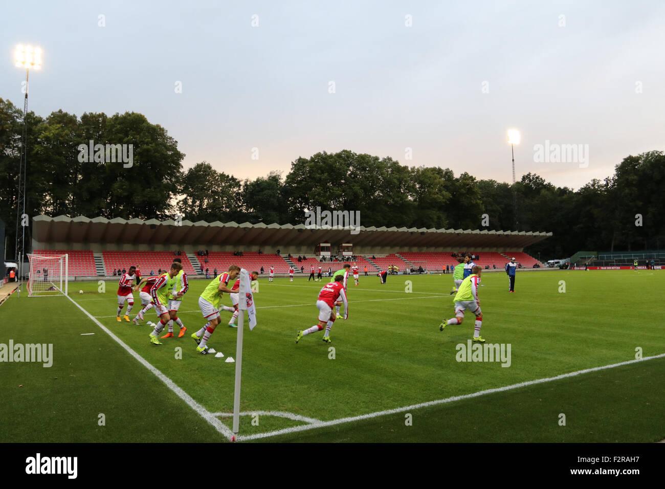 Franz Kremer Stadion. 22. September 2015, Franz-Kremer-Allee, Köln. FC Köln V Rot-Weiß Oberhausen. Stockbild
