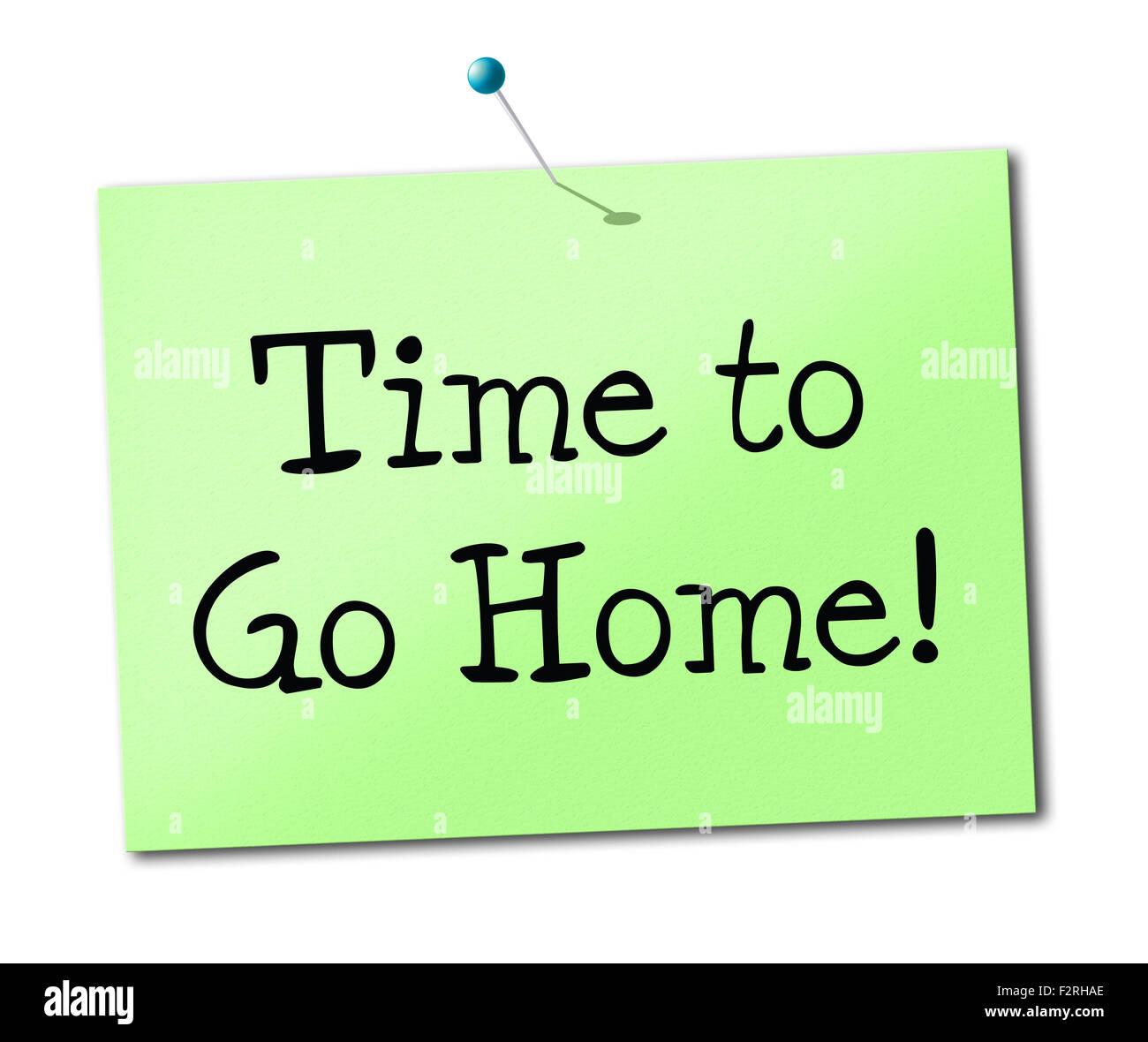 Zeit nach Hause gehen siehe darstellt Sie später und Bye
