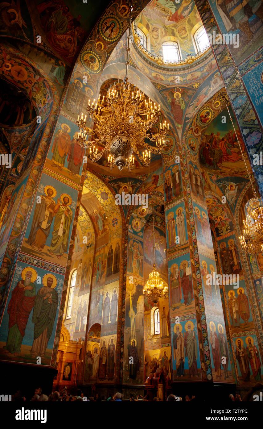 Russland, St. Petersburg, Kirche Auferstehungskirche Innenministerium Stockbild