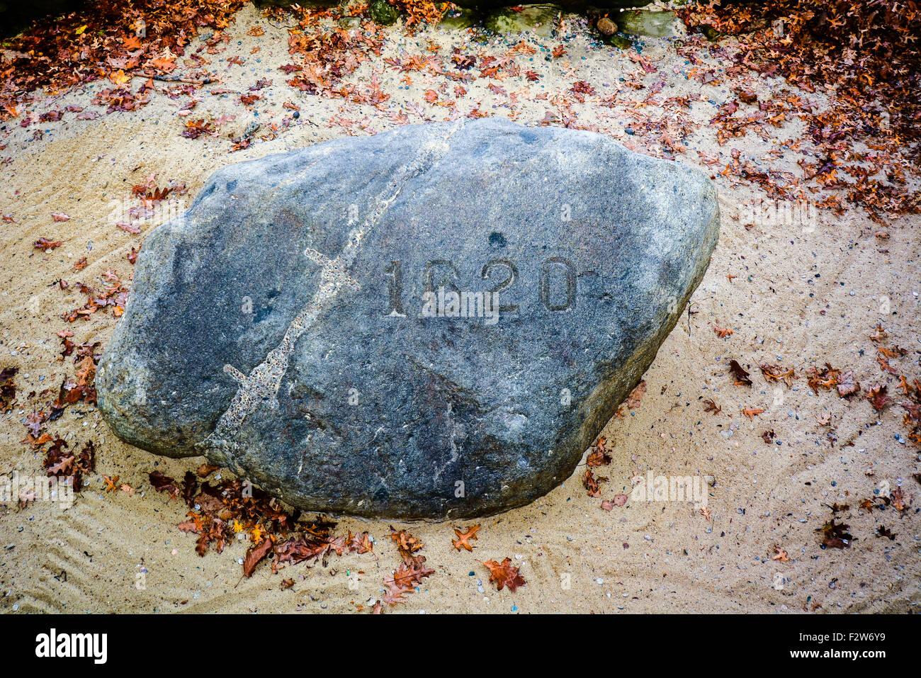 Historischen Plymouth Rock - Plymouth, Massachusetts, USA Stockbild