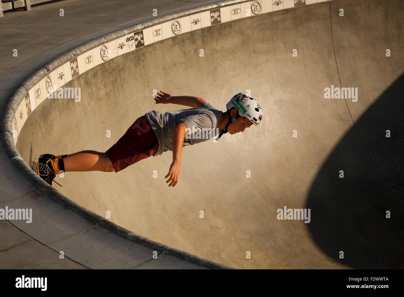 Skateboarder, Venice Beach, Los Angeles, Kalifornien Stockbild