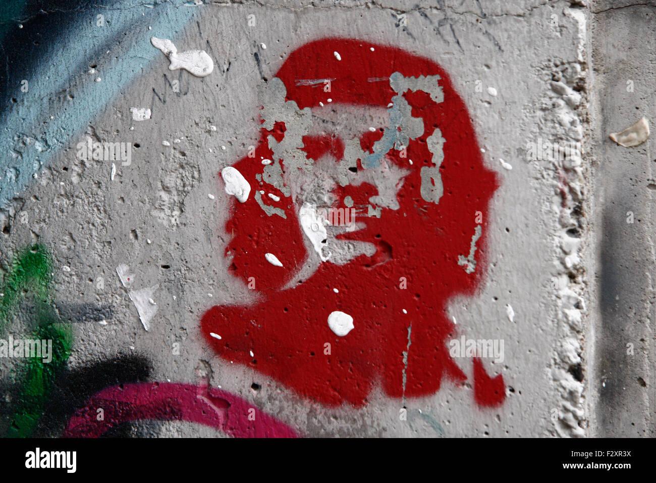 Che Guevara Graffity, Berlin-Mitte. Stockbild