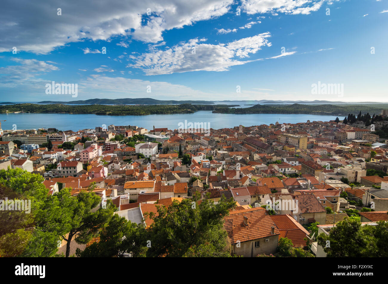 ?ibenik eine alte Stadt in der Mitte Dalmacia, Adria, Kroatien Stockbild
