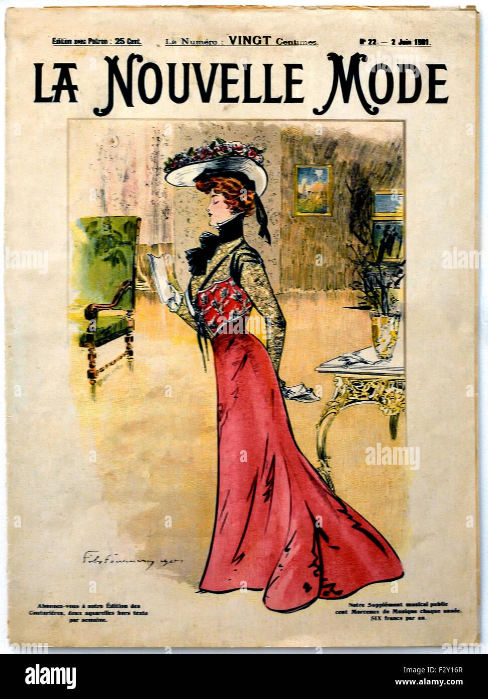 la nouvelle mode 1900 franz sisch paris mode couture designer kleidung kunst stockfoto bild. Black Bedroom Furniture Sets. Home Design Ideas
