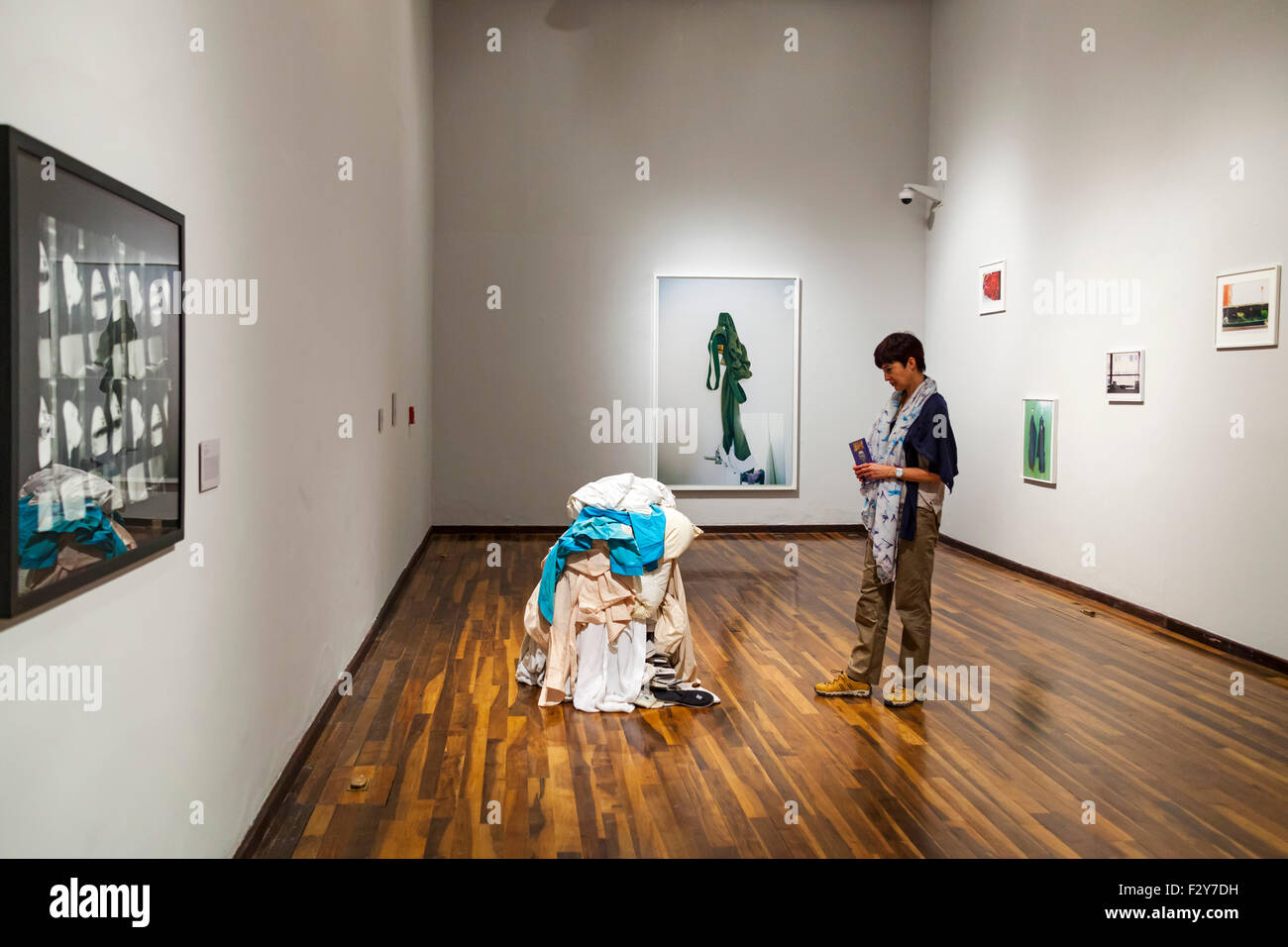 Moderne Kunstausstellung Instituto cultural Cabanas Guadalajara Jalisco Mexico North America Stockbild