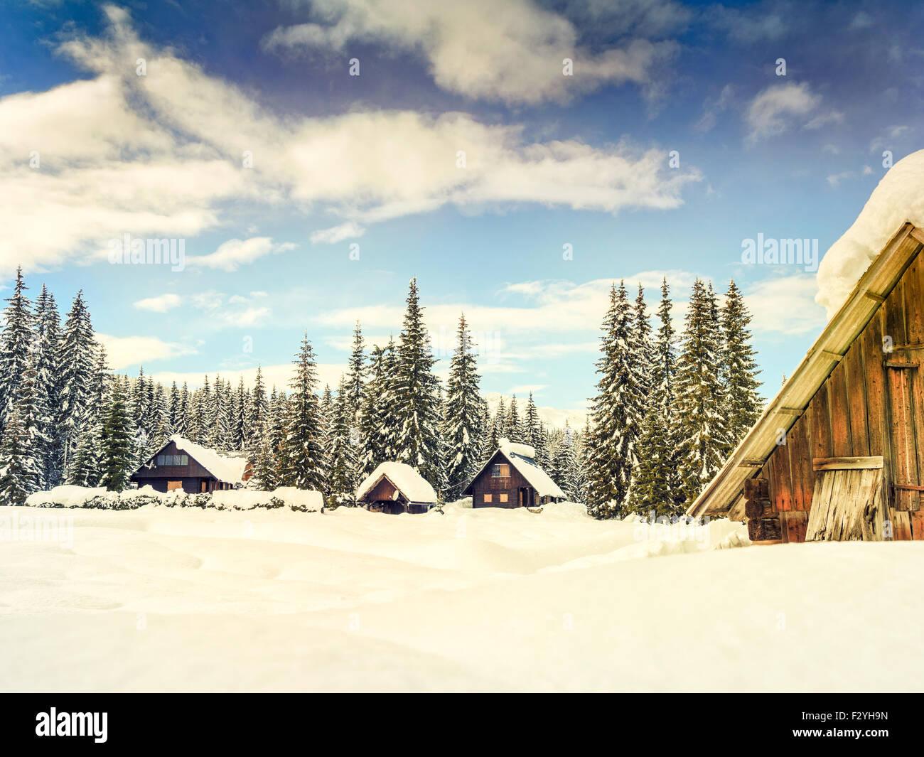 winter ferienhaus in slowenien alpen europa stockfoto bild 87887457 alamy. Black Bedroom Furniture Sets. Home Design Ideas