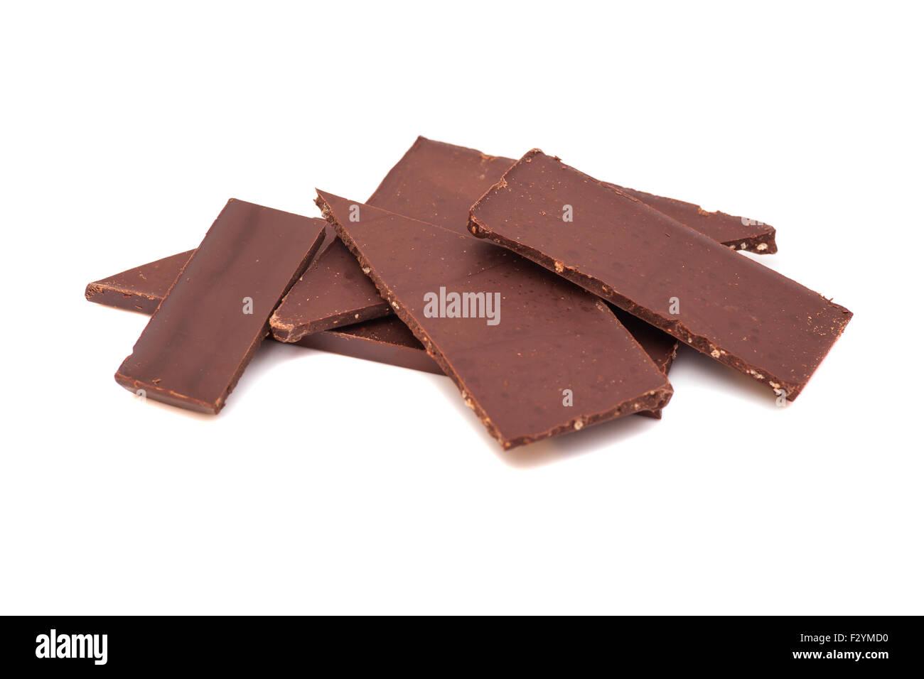 gebrochene schokolade auf einem wei en hintergrund stockfoto bild 87889900 alamy. Black Bedroom Furniture Sets. Home Design Ideas