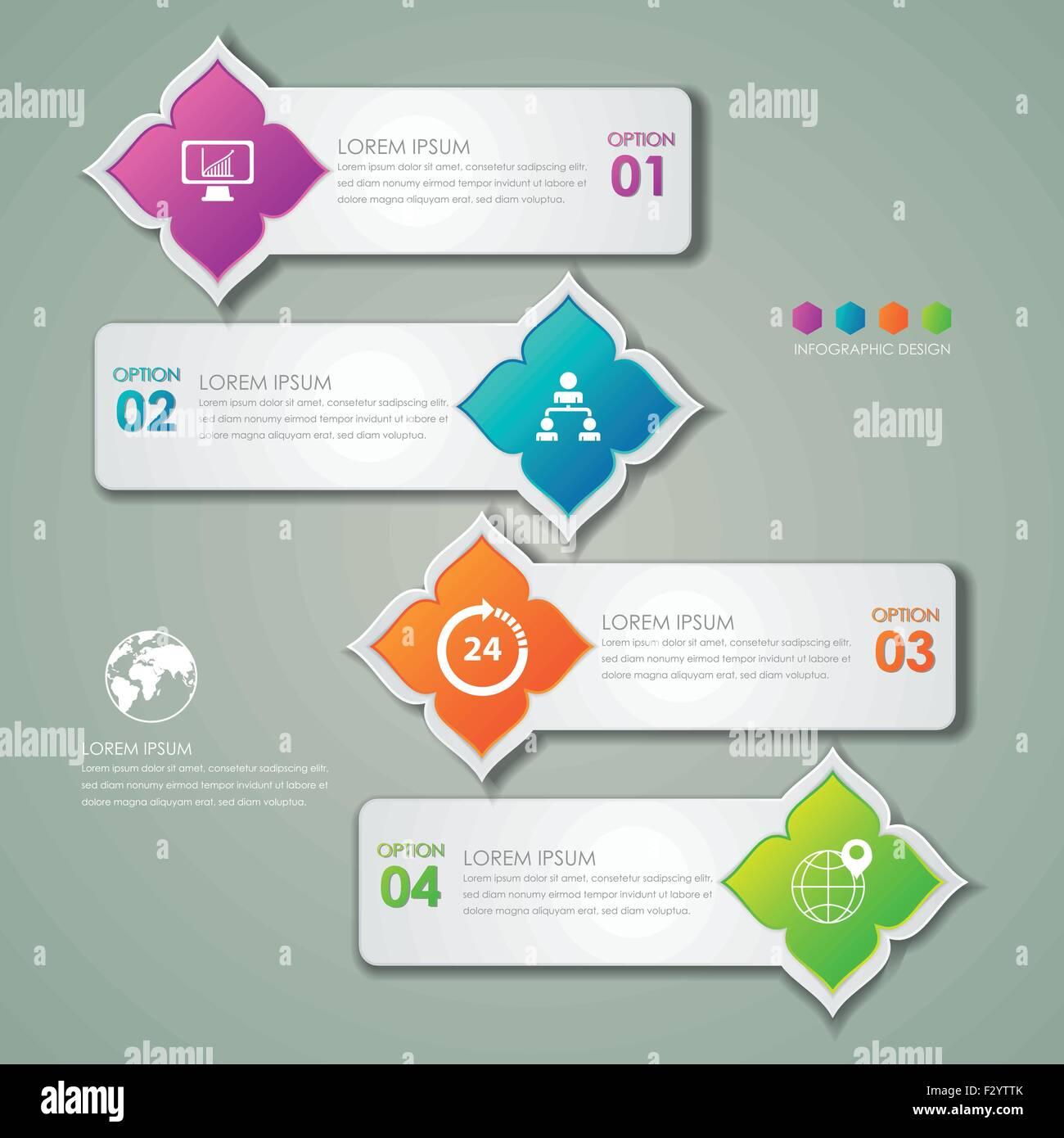 infografik vorlage und marketing designikonen thai muster konzept - Konzept Muster