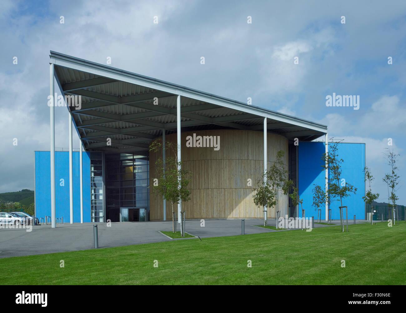 Akademie von Folkestone, Kent. Von Spencer de Grey von Foster & Partners, 2003-07 Stockfoto