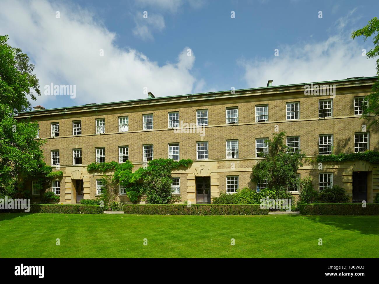 Cambridge Pembroke College in Orchard Gebäude, 1950er Jahre Stockbild