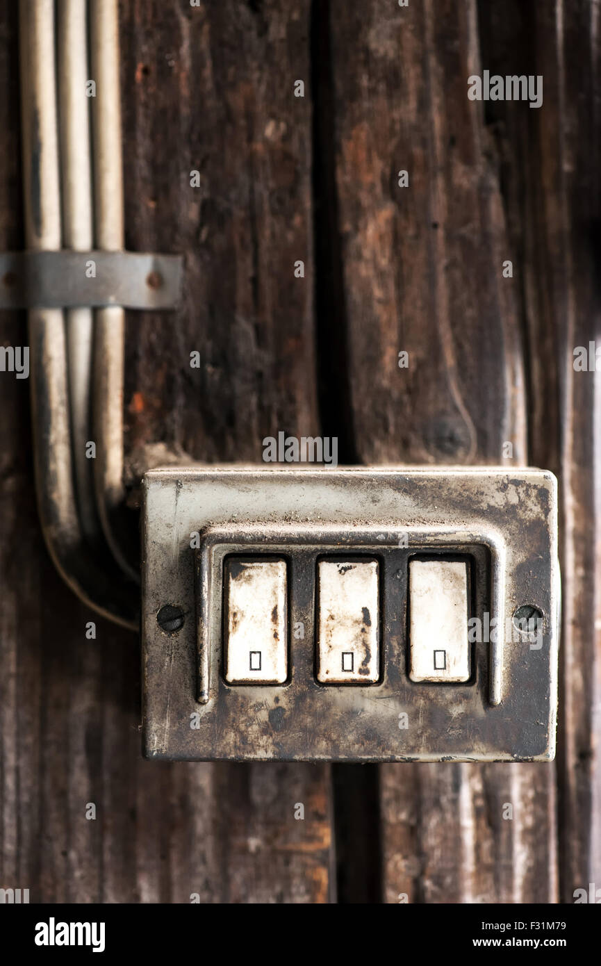 Old Electric Switches Stockfotos & Old Electric Switches Bilder - Alamy