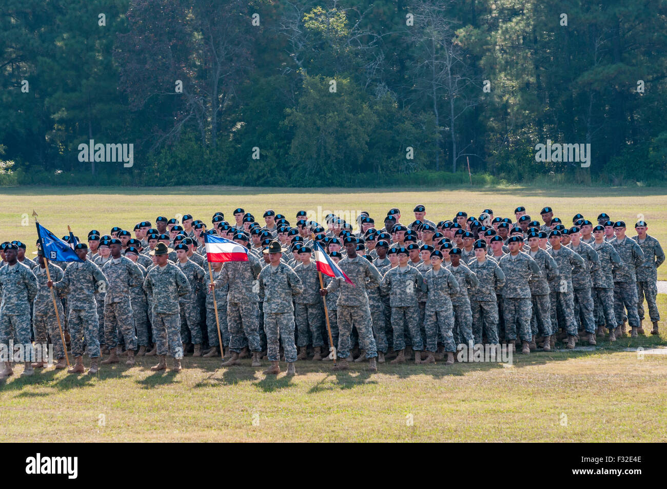 Us Armee Soldaten Bei Grundausbildung Abschlussfeier Stockfoto Bild