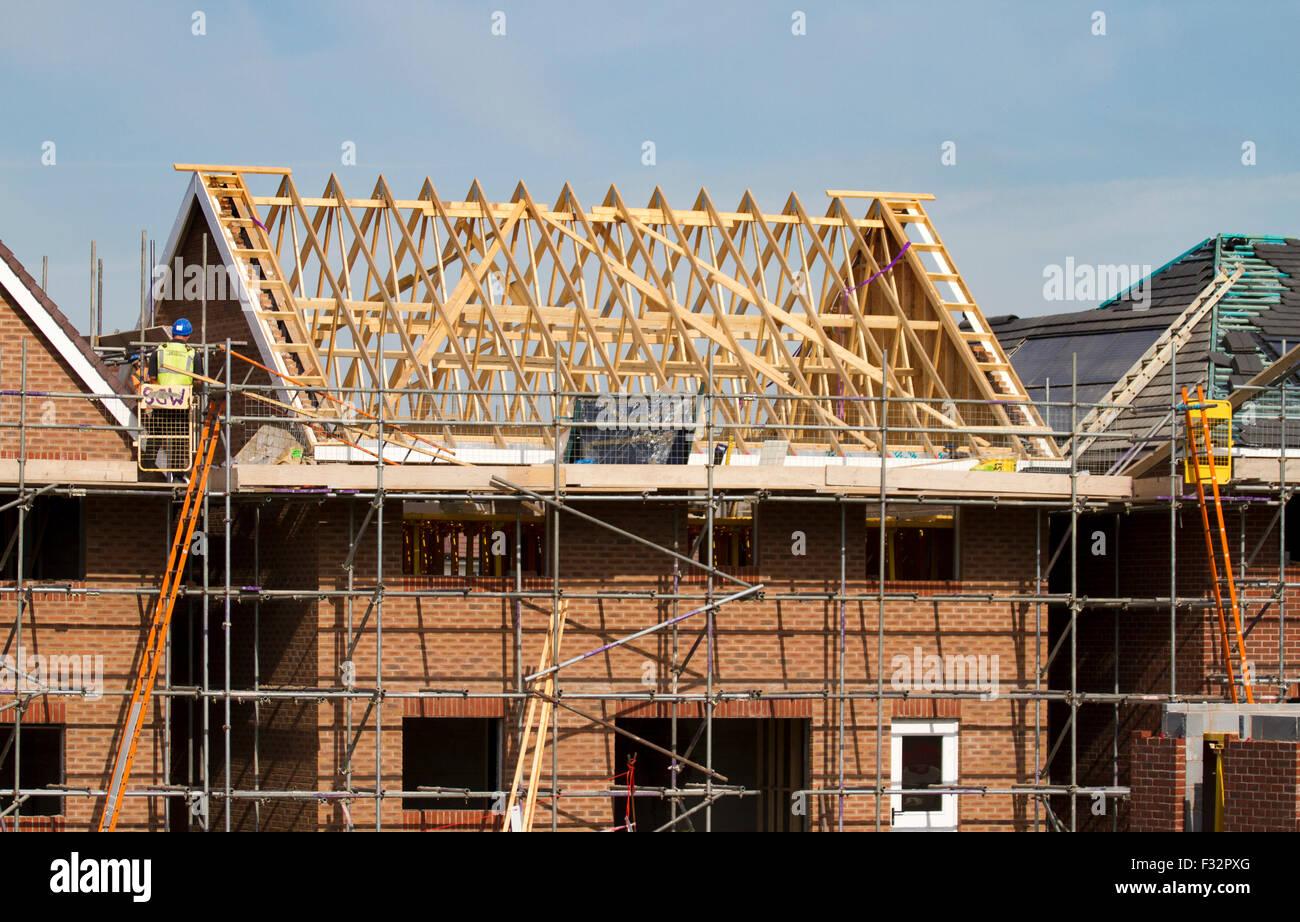 Haus Home Häuser Wohnungen Häuser Bauen Bau Baustelle Dachdecker