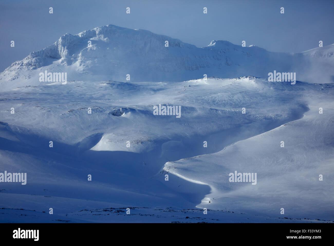 der Snæfellsjökull Gletscher, Snaefellsness-Halbinsel, Island Stockbild