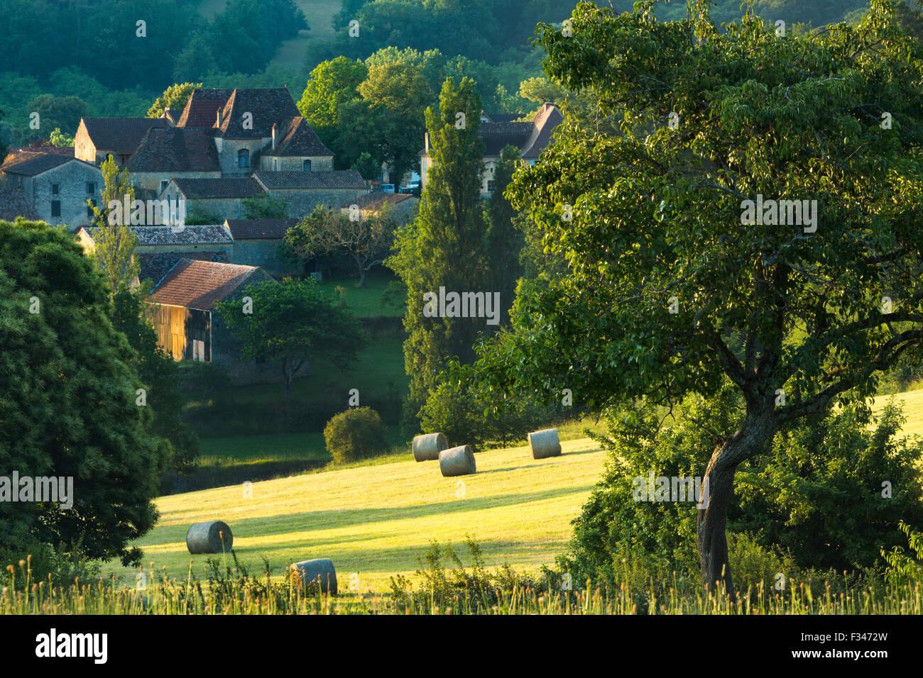 Molières, Pays de Bergerac, Périgord, Dordogne, Aquitaine, Frankreich Stockbild