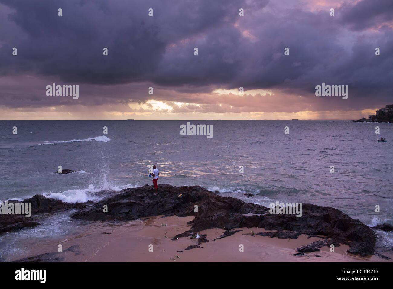 Schlemmen Sie de Yemanja, Salvador da Bahia, Brasilien Stockbild