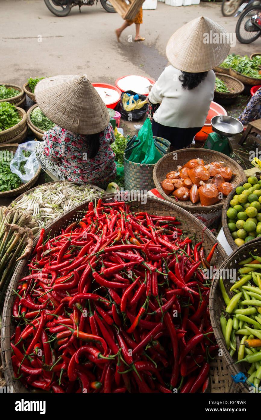 Dong Ba-Markt, Hue, Vietnam Stockbild