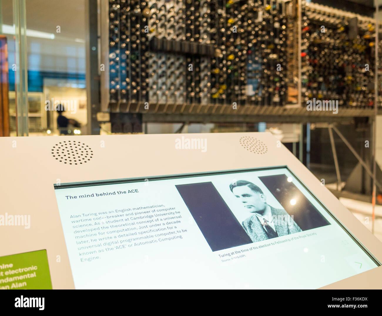 Die ACE-Computer entworfen von Alan Turing Teil The Information Age ...
