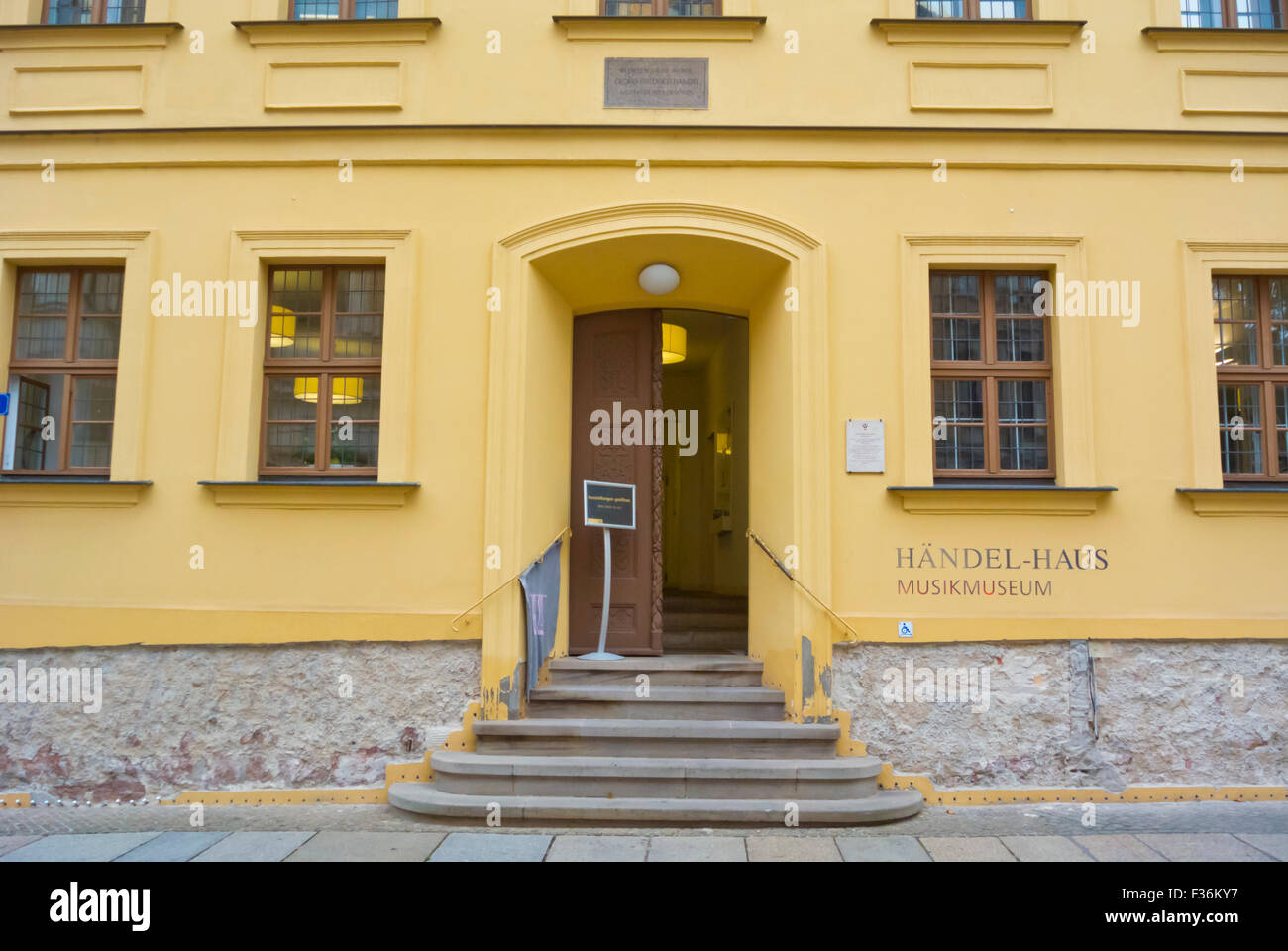 Musikmuseum, Musikmuseum, Händel Haus, Geburtshaus von Georg Friedrich Händel, Halle, Sachsen-Anhalt, Stockbild
