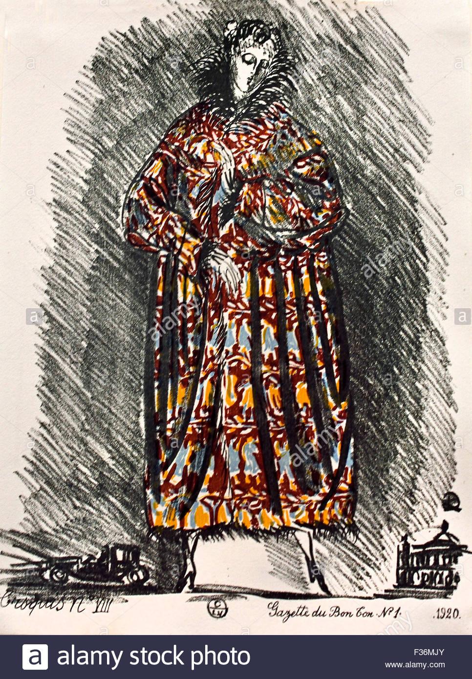 mode skizzen f r sommer kleider 1920 gazette du bon ton kunst modi frivolites von raoul dufy. Black Bedroom Furniture Sets. Home Design Ideas