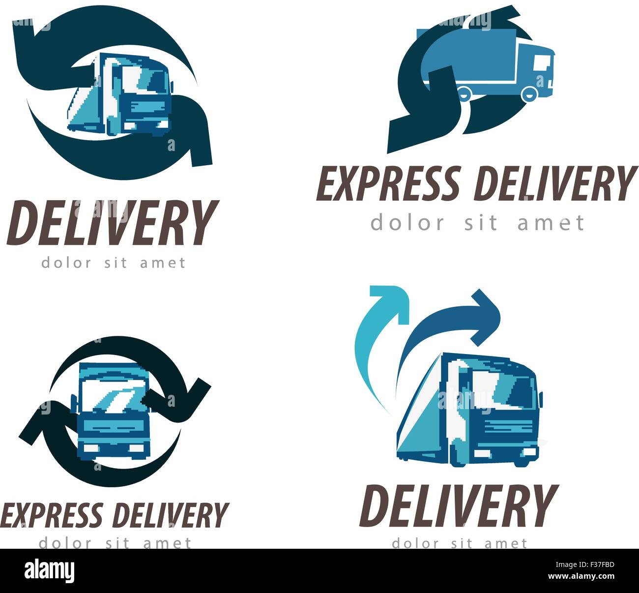 Delivery Goods Vector Logo Design Stockfotos & Delivery Goods Vector ...