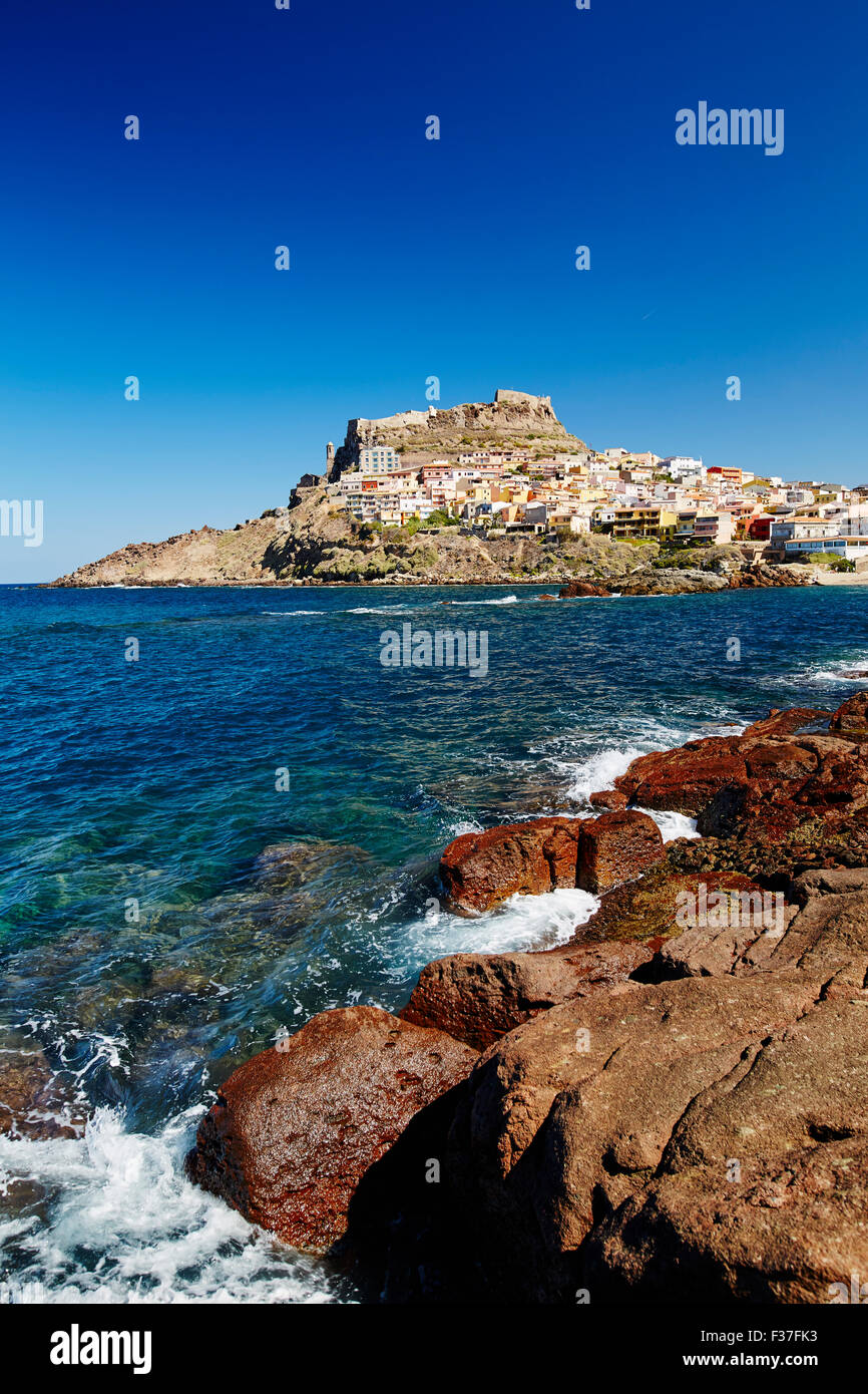 Stadt Castelsardo, Sardinien Stockfoto