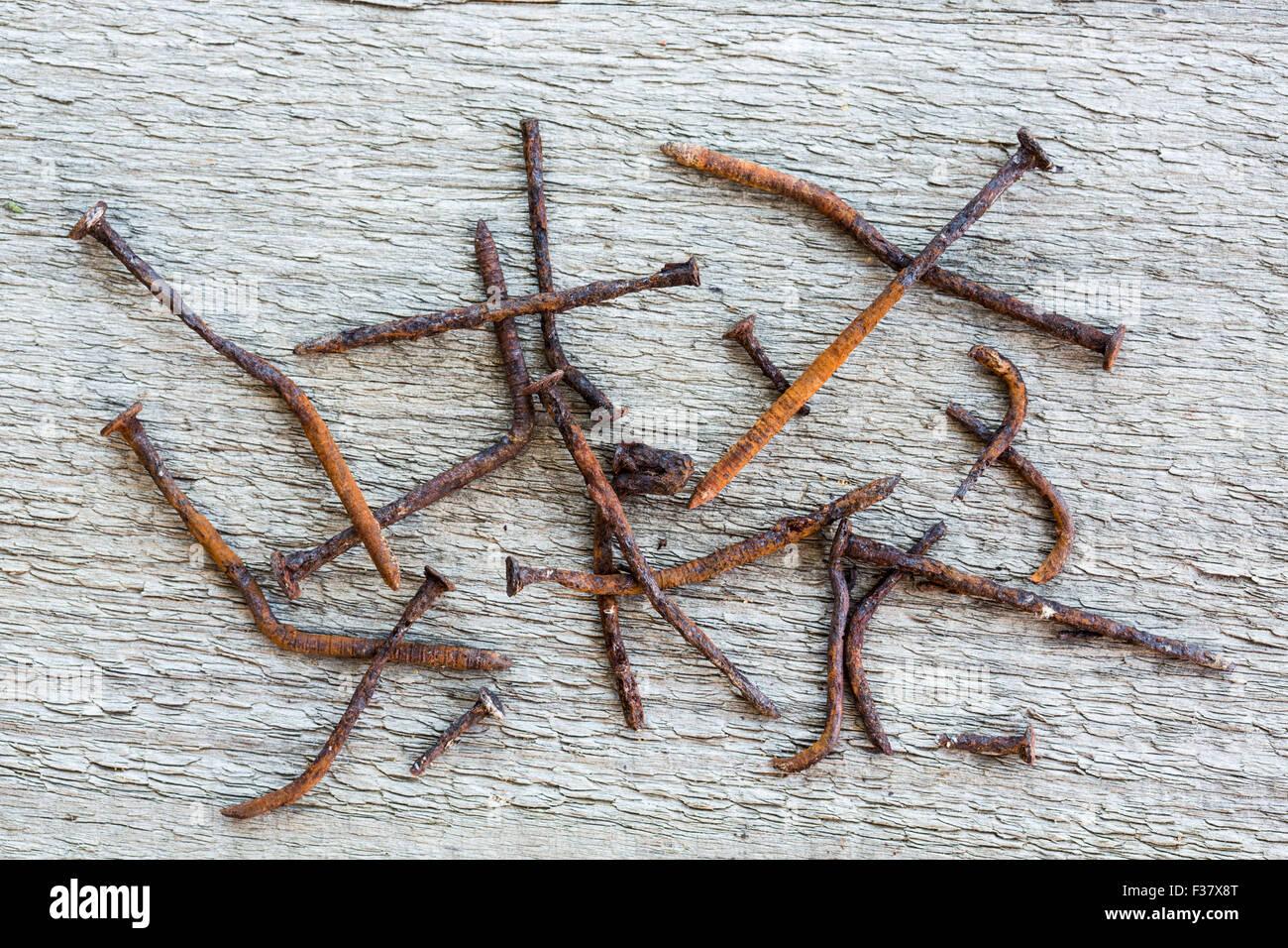Rostigen Nagel Stockfoto, Bild: 88070104 - Alamy