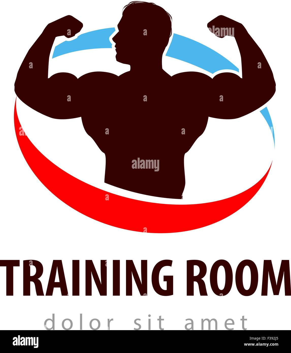 Turnhalle Vektor-Logo-Design-Vorlage. Gesundheit oder Bodybuilding ...