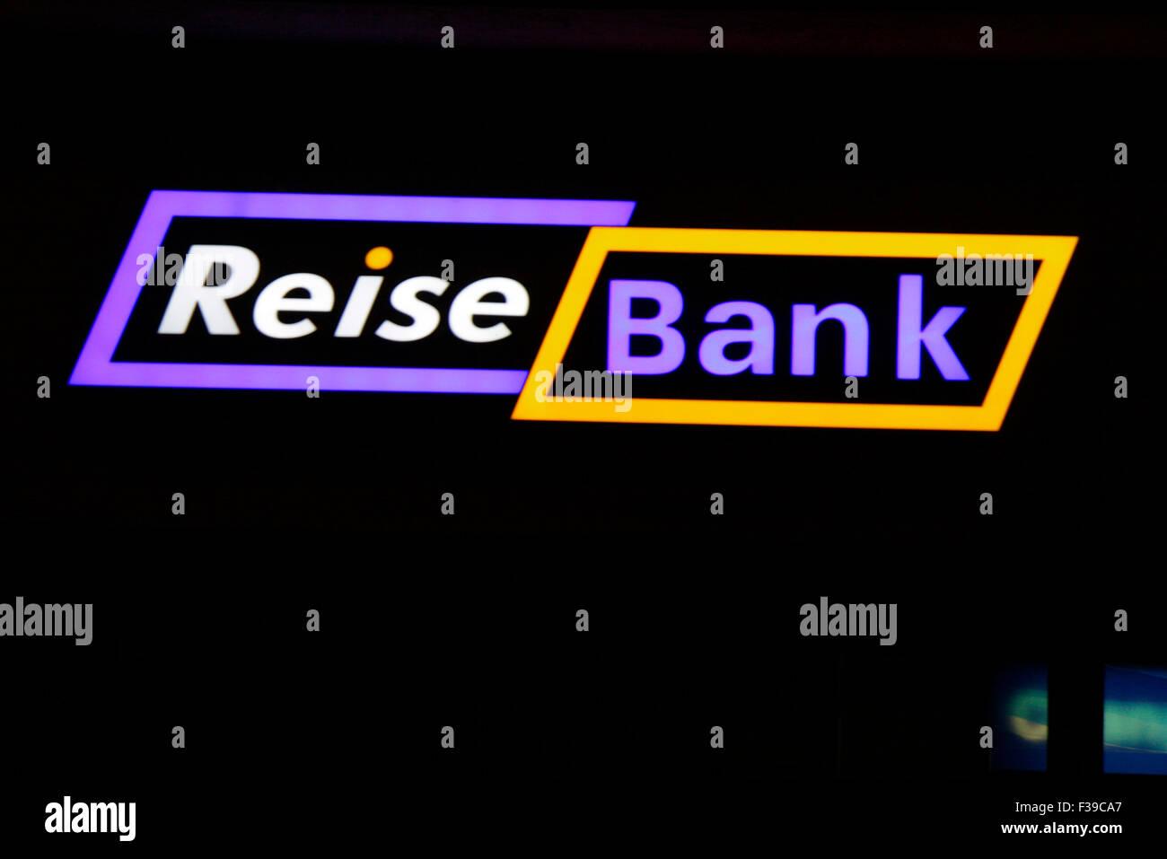 """Markenname: """"Reise-Bank"""", Berlin. Stockbild"""