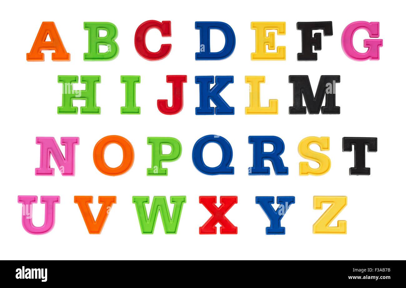 alphabet in bunten kunststoff kinder buchstaben