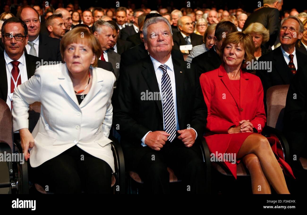 Frankfurt Am Main Deutschland 3 Oktober 2015 Bundeskanzlerin
