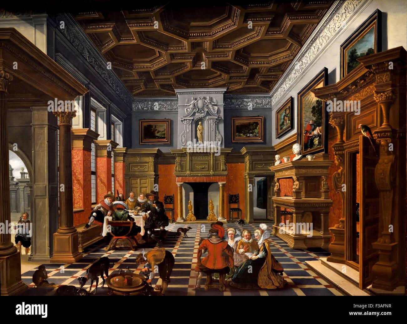 Interieur mit einer Firma 1622 Bartholomeus van Bassen und Esaias ...