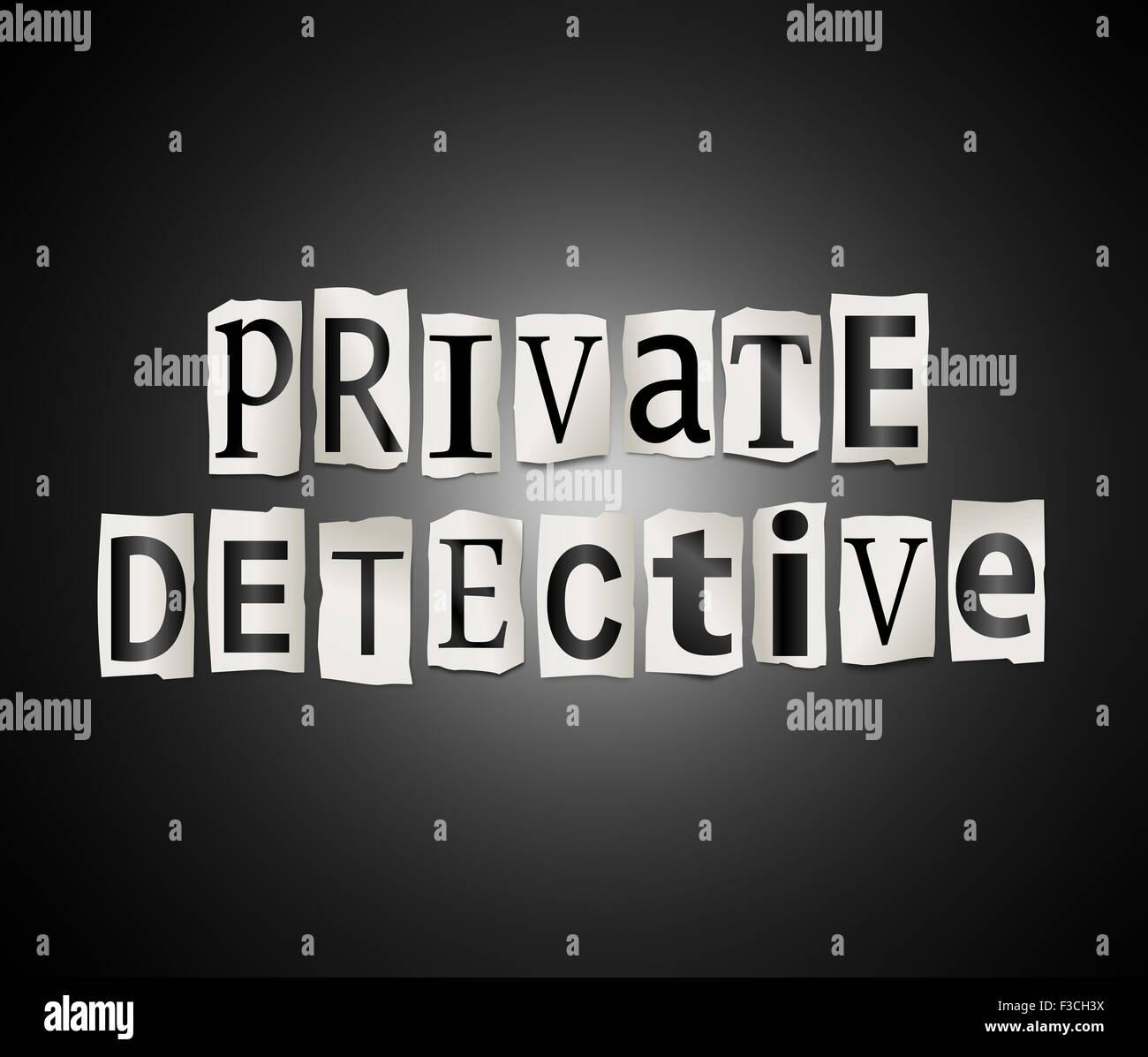 Privatdetektiv. Stockbild