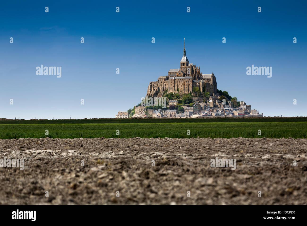 Le Mont-Saint-Michel Saint Michael Mount Benedictine Abtei untere Normandie Manche Frankreich Europa Stockbild