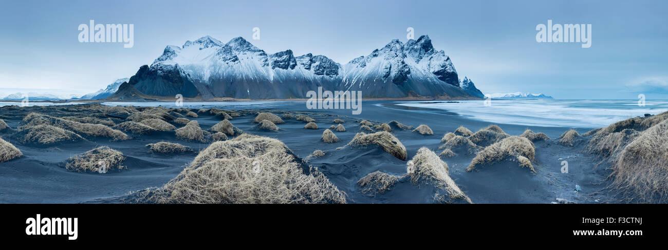 Sanddünen auf der Stokksness Halbinsel, Ost-Island Stockbild