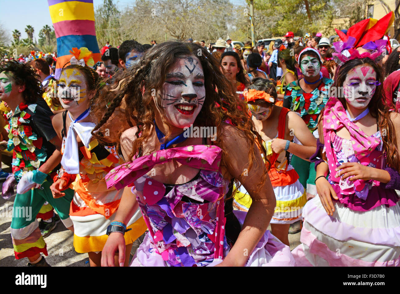 Purim-Karneval in Israel Stockbild