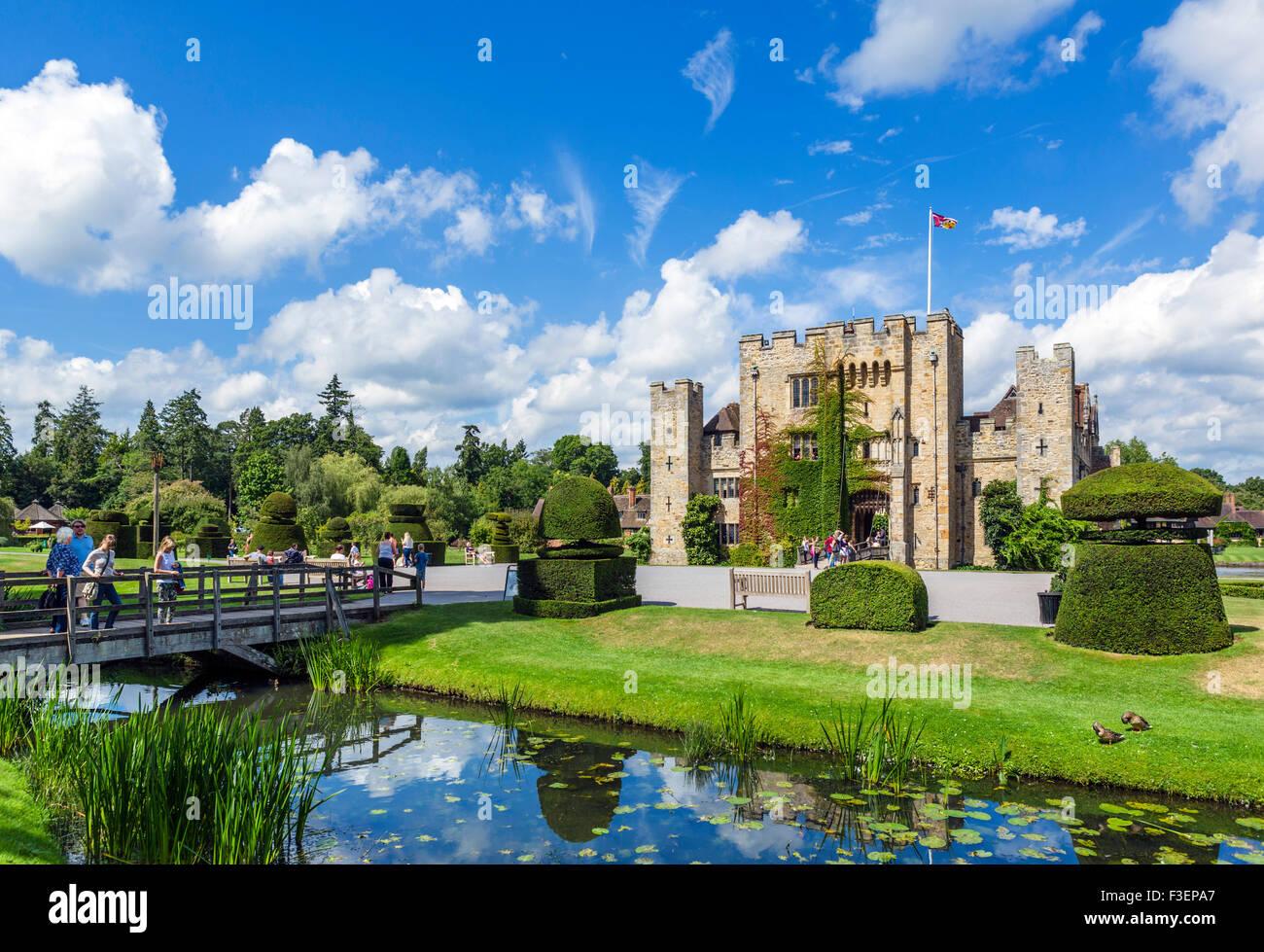 Hever Castle, Haus der Familie von Anne Boleyn, Hever, Kent, England, UK Stockbild