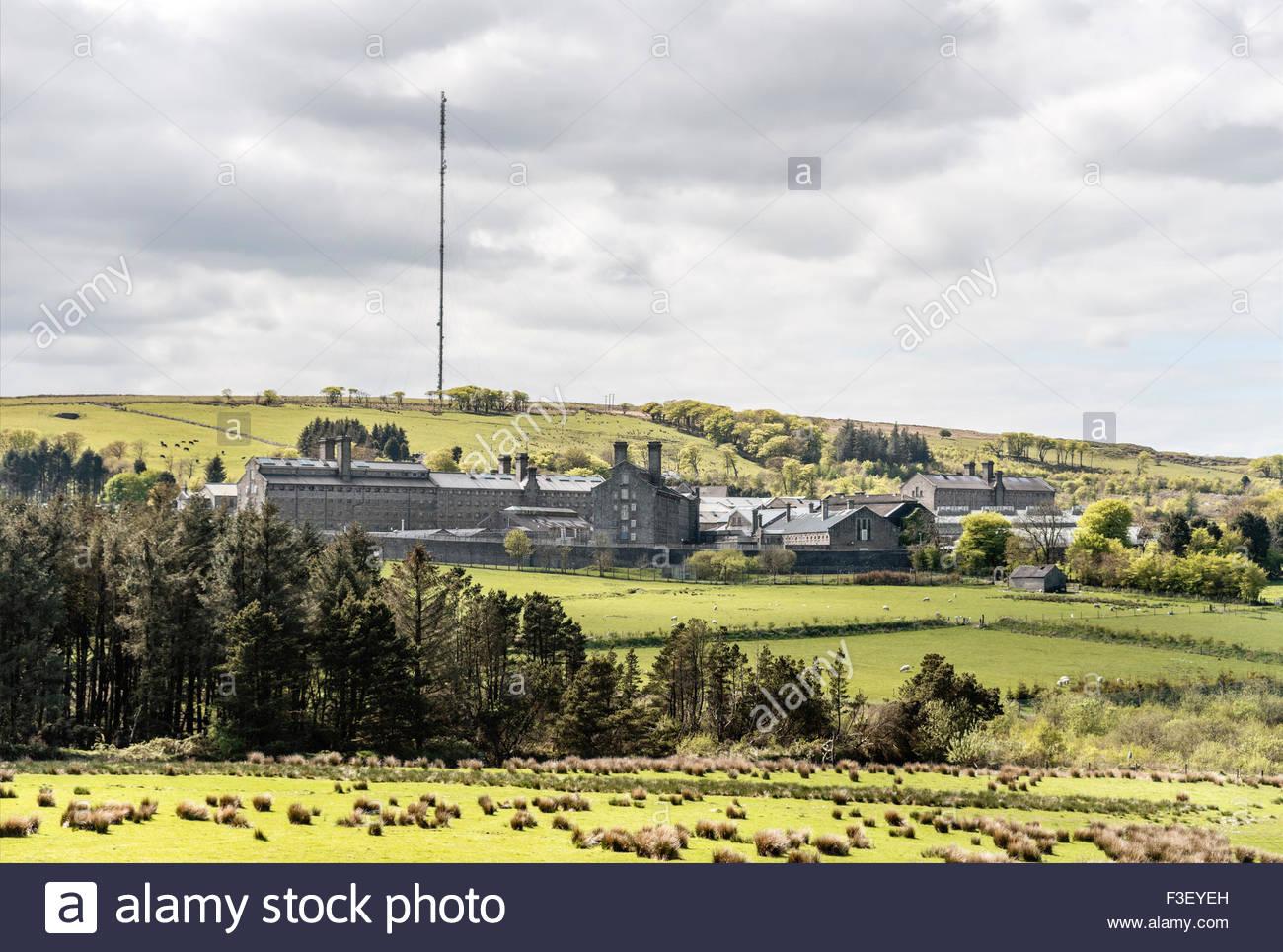 Fernblick im Dartmoor Gefängnis in Princetown, Devon, England, UK   Aussicht Auf Das Dartmoor Prison Gefaengnis Stockbild