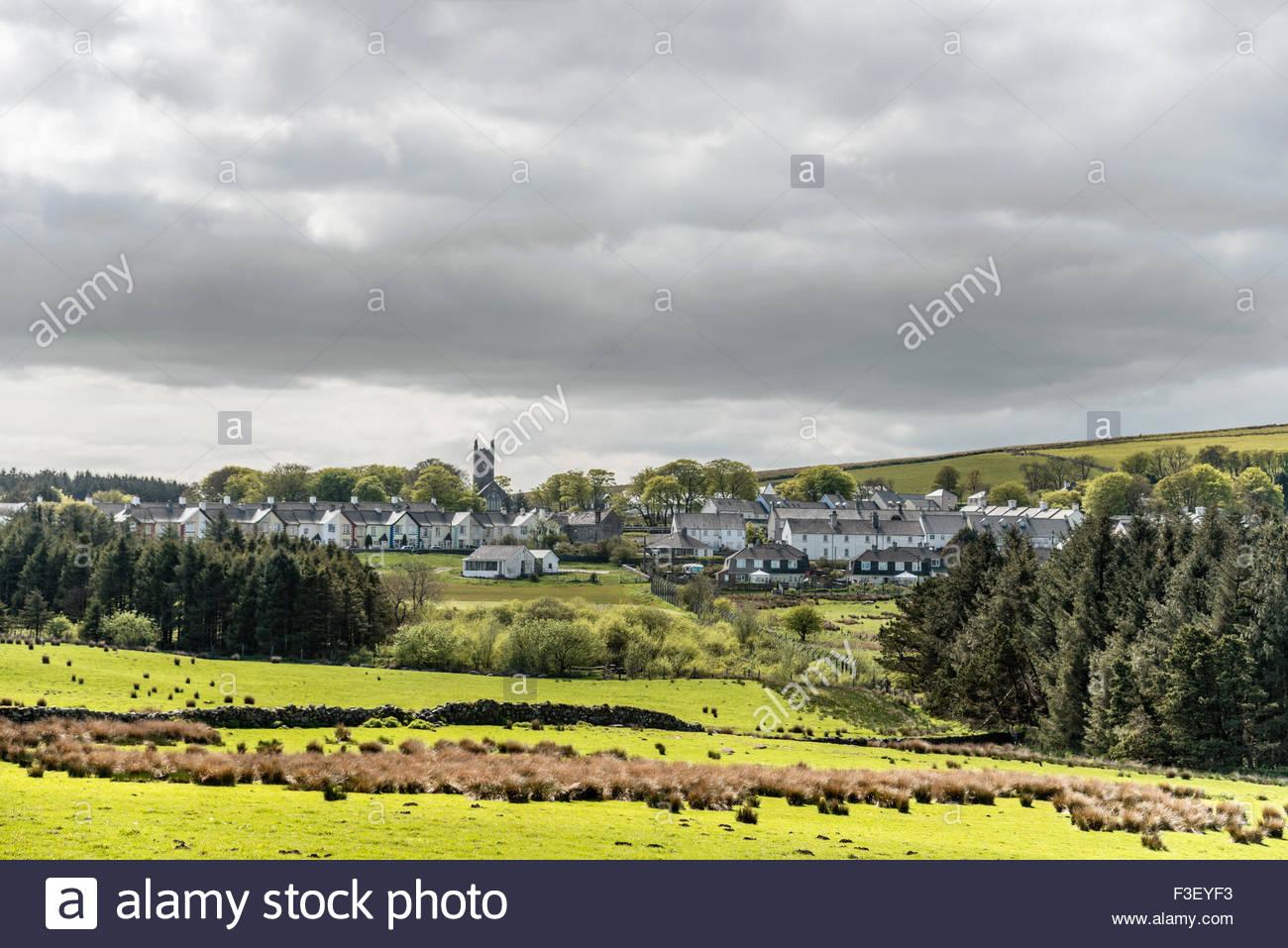 Fernsicht bei Princetown, Nationalpark Dartmoor, Devon, England, UK   Aussicht in Princetown im Dartmoor Nationalpark Stockbild