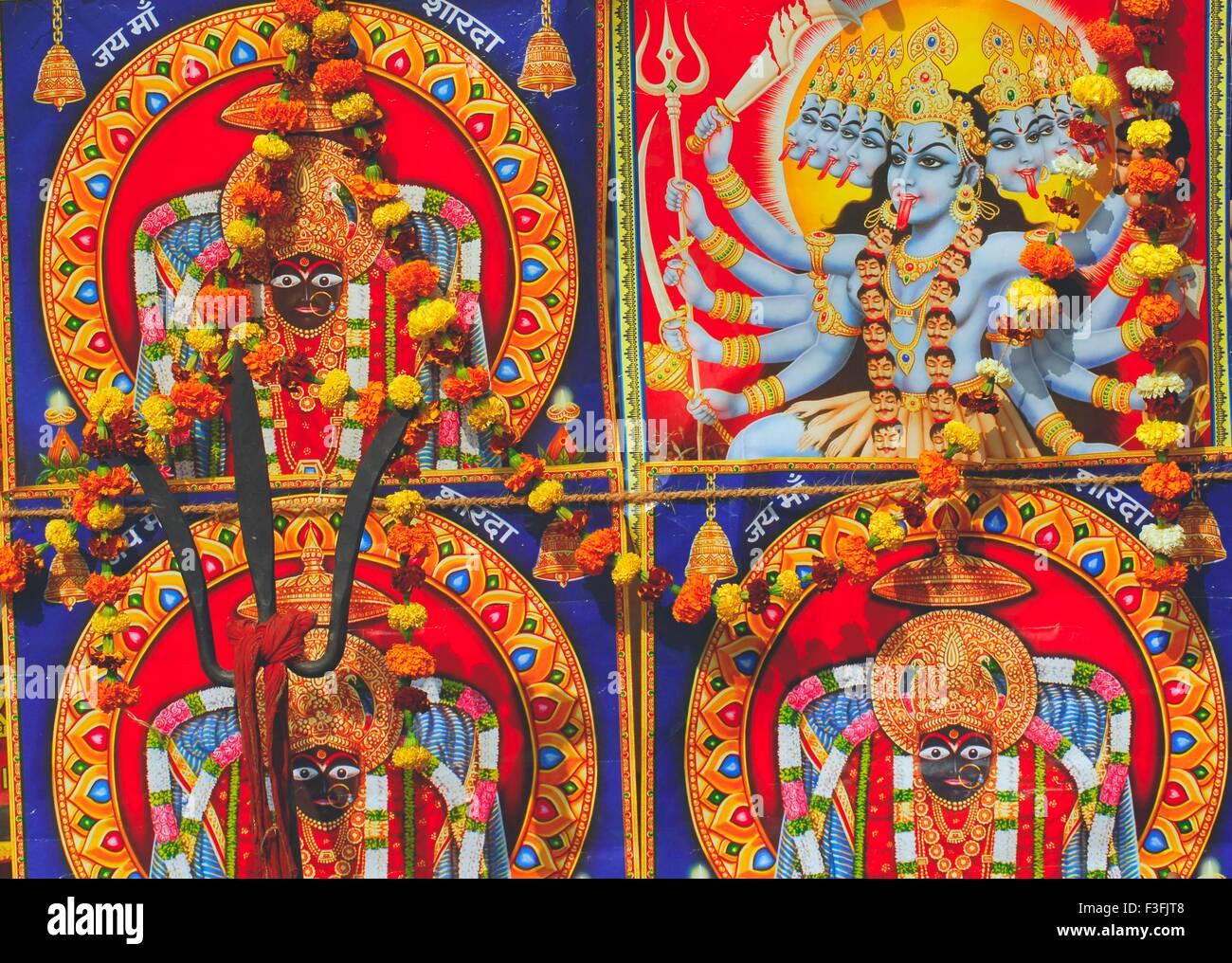 Göttin Kali Porträts Stockbild